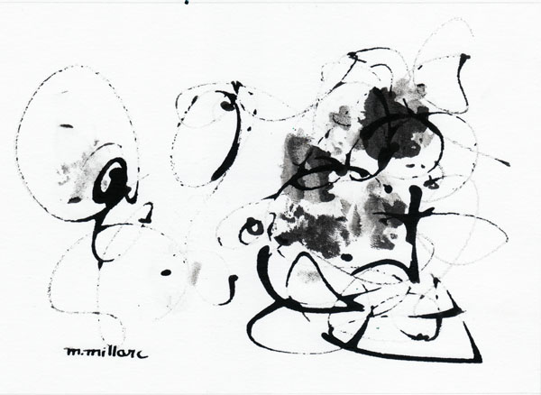 Millarc INK 54 Ink on watercolor paper 5X7 $230