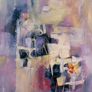 Thumbnail: Millarc PURPLE PASSAGES Oil on canvas 20X24 850
