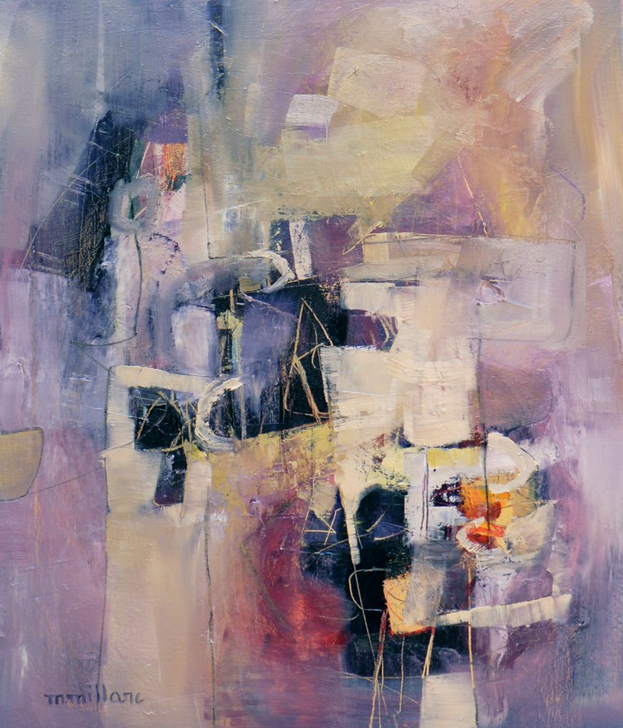 Millarc PURPLE PASSAGES Oil on canvas 20X24 850