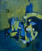 Thumbnail: Millarc COMPOSITION IN BLUE AND YELLOW Oil on canvas 20X24 $850
