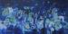 Thumbnail: Millarc SUMMER NIGHTS AND FIREFLIES Mixed media on mat board 7X14 $400