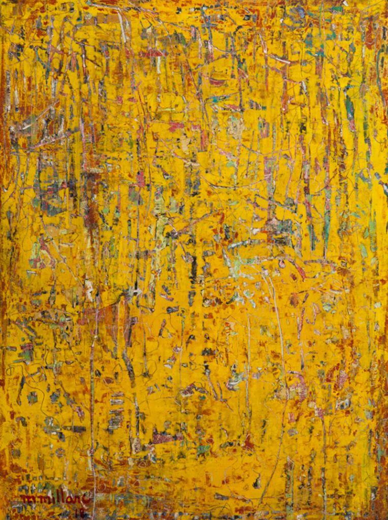 Millarc FRAGMENTS oil on cradled panel 12X16 450