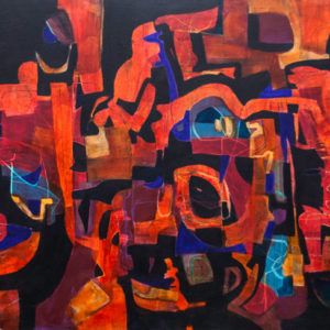 Thumbnail: Millarc ABSTRACT TANGLE acrylic on canvas 30X48 2,800