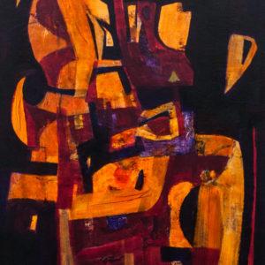 Thumbnail: Millarc AFRICAN BEAT 2 acrylic on canvas 24X30 1,800