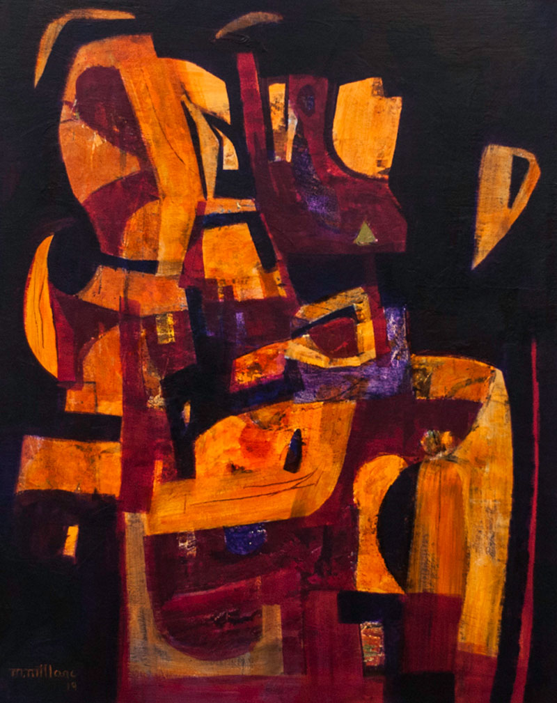 Millarc AFRICAN BEAT 2 acrylic on canvas 24X30 1,800