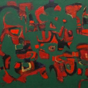 Thumbnail: Millarc FOREST MUSIC II Acrylic on canvas 20X24 $950 (framed)