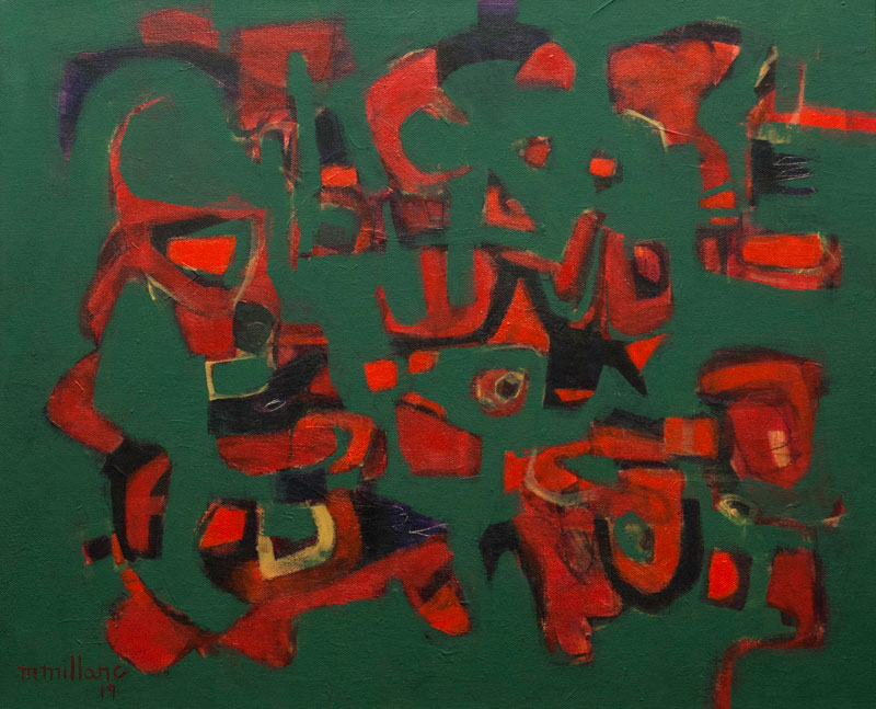 Millarc FOREST MUSIC II Acrylic on canvas 20X24 $950 (framed)
