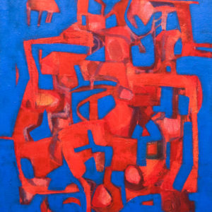 Thumbnail: Millarc EXCERCISE IN JAZZ acrylic on canvas 16X20 in. $750