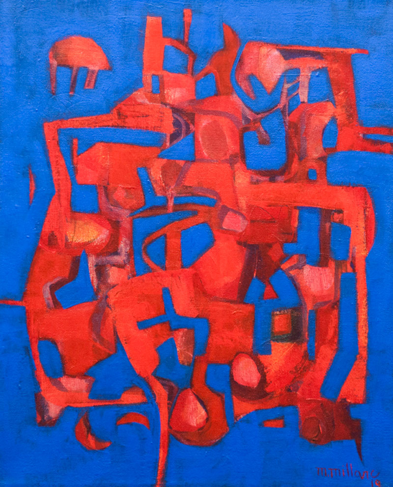 Millarc EXCERCISE IN JAZZ acrylic on canvas 16X20 in. $750