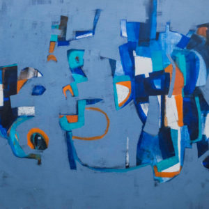 Thumbnail: Millarc BETWEEN THE HOURS oil on canvas 30X40 in. $1,700