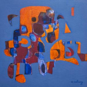 Thumbnail: Millarc JUST THEN acrylic on canvas 20X20 in. $650