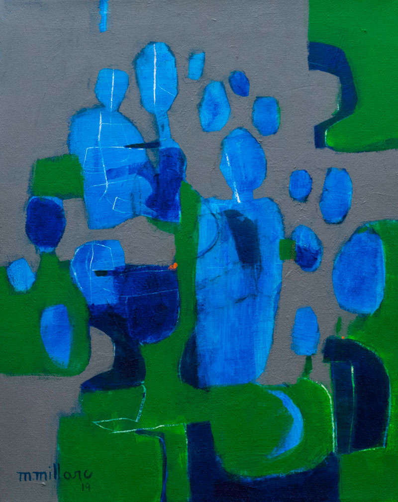 Millarc MARCH FOR PEACE Acrylic on canvas 16X20 (framed) $750