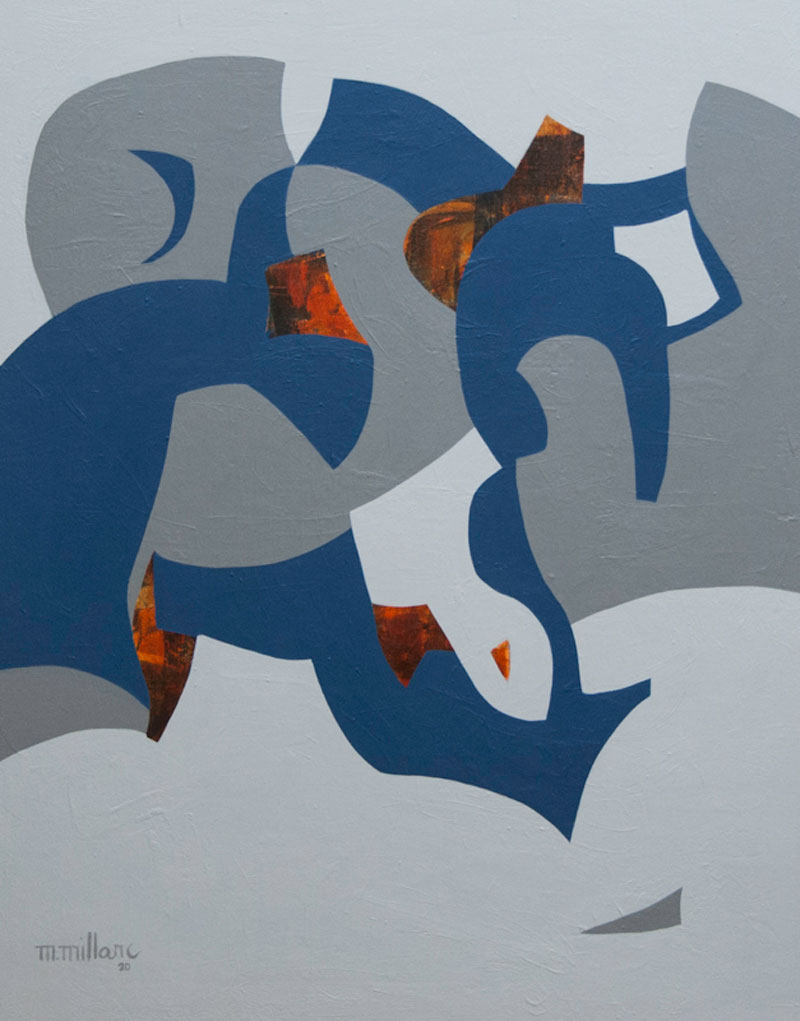 Millarc TIME SEGMENTS acrylic on canvas 24X30 1,200