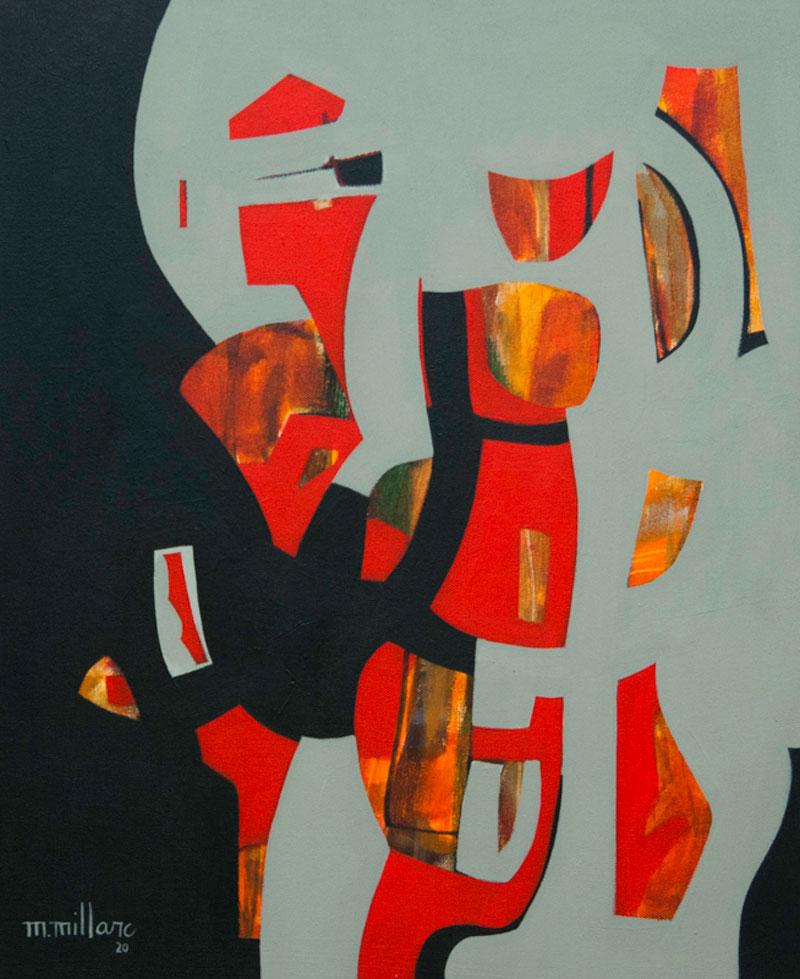 Millarc CRIMSON acrylic on canvas 20X24 850
