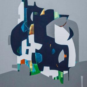Thumbnail: Millarc FORTNIGHT mixed media on canvas 20X24 850