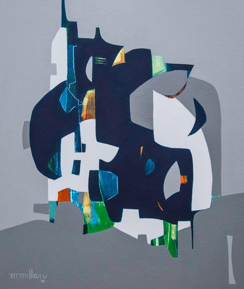 Millarc FORTNIGHT mixed media on canvas 20X24 850
