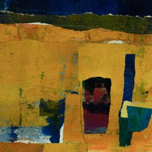 Thumbnail: Millarc GOLDEN GROUND mixed media and collage on watercolor paper 7X7 300