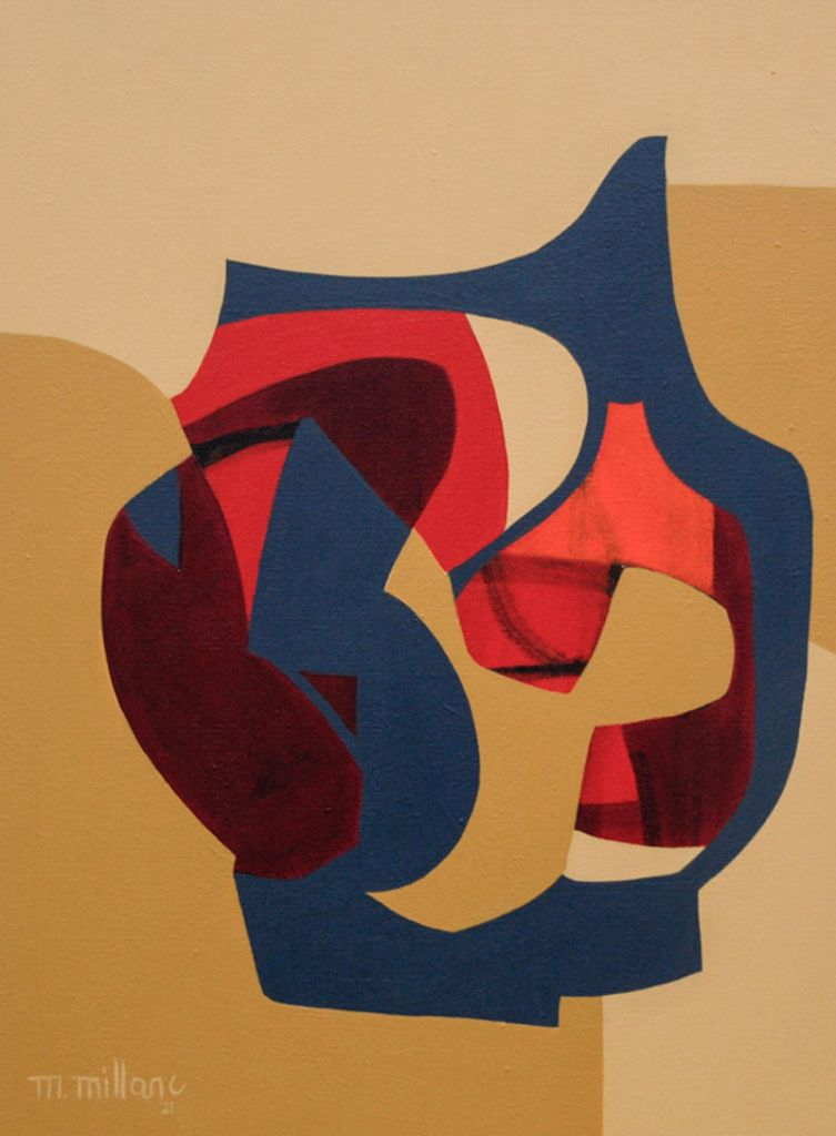 Millarc REMINISCING acrylic on canvas 18X24 700